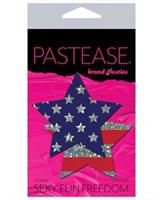 Pastease Glitter Patriotic Star - Red/Blue