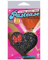 Pastease Black Glitter Heart w/Bow