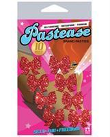 Pastease Mini Glitter Bows - Red