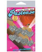 Pastease Mini Glitter Hearts - Silver