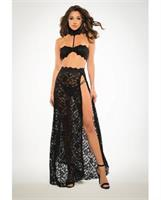 Adore Lace Bandeau Top and Skirt Black