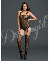Teddy Bodystocking w/Attached Thigh Highs Black