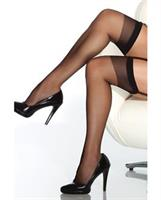 Sheer Thigh High Stocking Black