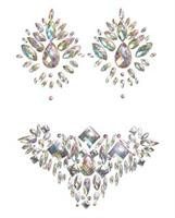 Iridescent Body Gem and Jewel Pasties Set - Multi