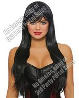 Long Straight Layered Wig - Black