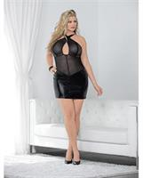 Criss Cross Your Heart Chemise Black