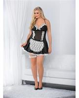Sexy French Maid Dress Black/White