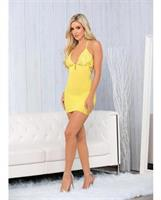 Mesh and Lace Chemise Lemonade