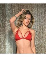 Circle Hardware Strappy Cup Tri-Top Red