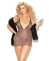 Vivace deep v mini dress leopard