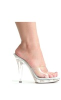 "Ellie shoes, m-vanity 5"" pump clear"