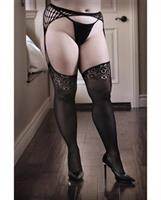 Sheer Fantasy I Don't Mind Garter Stockings Black
