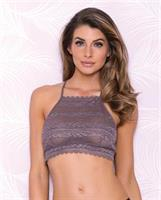 Halter Lace Bralette w/Racerback Detail Taupe