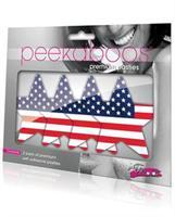 Peekaboos Stars and Stripes Pasties - 2 Pairs