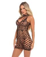 Pink Lipstick Shreds of Decency Mini Dress Black