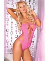 Pink Lipstick Juicebox Seamless Bodysuit Pink