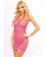 Shredded Seamless Tube Dress