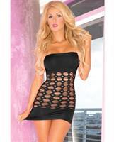 Pink Lipstick Middle Seamless Dress Black