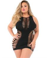 Pink Lipstick High Neck Shredded Seamless Dress Black
