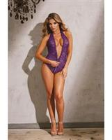 Stretch Lace Teddy Plum