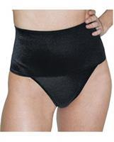 Rago Shapewear Soft Wide Band Thong Shaper Black