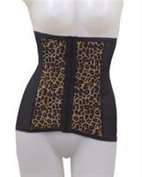 Rago Shapewear High Waisted Waist Cincher Leopard