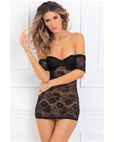 Seductively Stunning Lace Dress Black