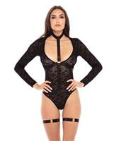 Rene Rofe Up to my Neck Teddy Choker Set  Black