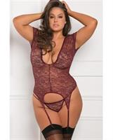 Rene Rofe Finest of all Garter Chemise Burgundy