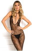 Rene Rofe Holy Plunge Harness Bodystocking Black