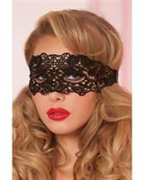 Holiday/Valentines Lace Eye Mask w/Satin Ribbon Ties Black