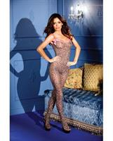 Leopard Print Crotchless Bodystocking