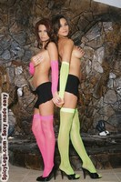 Fishnet arm warmers