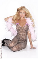 Bodystocking with satin bows