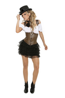 Racy Steampunk Rose Costume