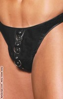 Leather thong with rings