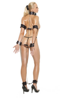 Detachable Leather And Chain Collar Set