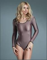 Scoop Neckline Long Sveeves Leotard Body