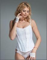 White Bridal Corset With Zipper