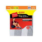 Hanes Men's Cushion No-Show Socks 13-Pack (Includes 1 Free Bonus Pair)