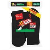 Hanes EZ-Sort Boys' Ankle Socks 11-Pack (Includes 1 Free Bonus Pair)