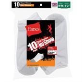 Hanes Boys' No-Show EZ Sort Socks 10-Pack
