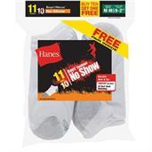 Hanes EZ-Sort Boys' No-Show Socks 11-Pack (Includes 1 Free Bonus Pair)