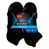Hanes Men's X-Temp Comfort Cool No Show 6-Pack