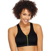 Hanes ComfortFlex Fit Easy On Zip Front Wirefree Sports Bra