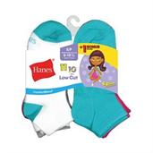 Hanes ComfortBlend EZ-Sort Girls' Low Cut Socks 11-Pack (Includes 1 Free Bonus Pair)