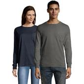 Hanes Men's ComfortWash Garment Dyed Long Sleeve Pocket Tee