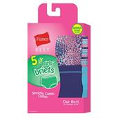 Hanes Best Girls' Soft and Cool Briefs 5-Pack (4 + 1 Free Bonus Pack)