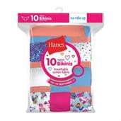Hanes Girls' Cotton Bikinis 10-Pack