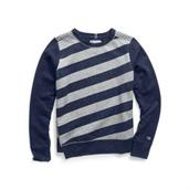 Champion Women Heritage Fleece Asymmetrical Stripe Crew